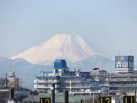 20160127三鷹跨線橋からの富士山1