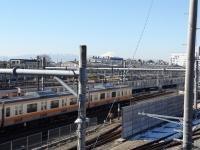 20160127中央線と富士山2