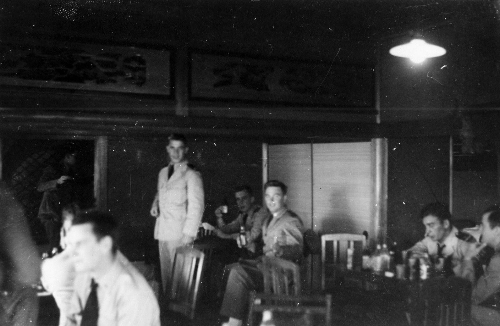 新和歌浦の旅館の米兵