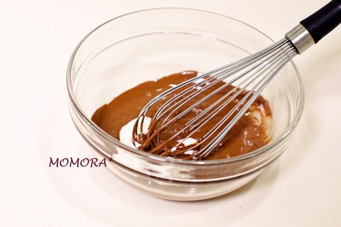 HM豆腐ガトーショコラ手順 (1)