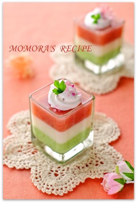 マシュマロ菱餅ムース (2)