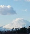 1月降雪後富士山