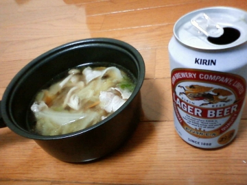 一人鍋で乾杯
