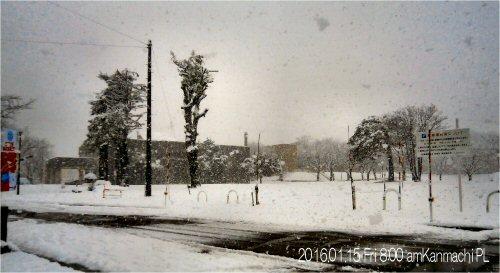 02 500 20160115 0800am 降雪上町駐車場