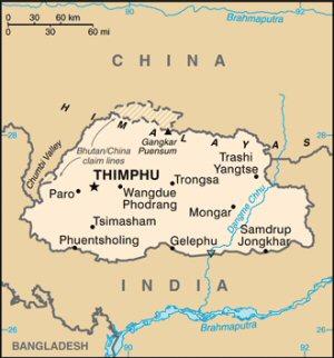 01c 300 map of Bhutan