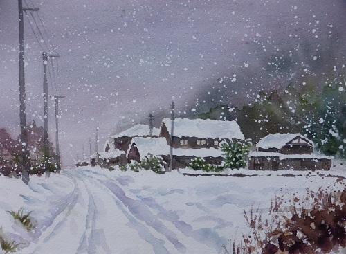 湖北の雪景色