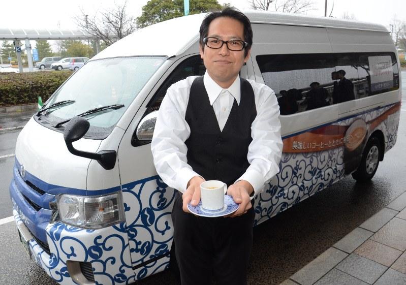 【佐賀】日本初 いれ立てコーヒーをタクシーで 佐賀空港-有田町間で運行