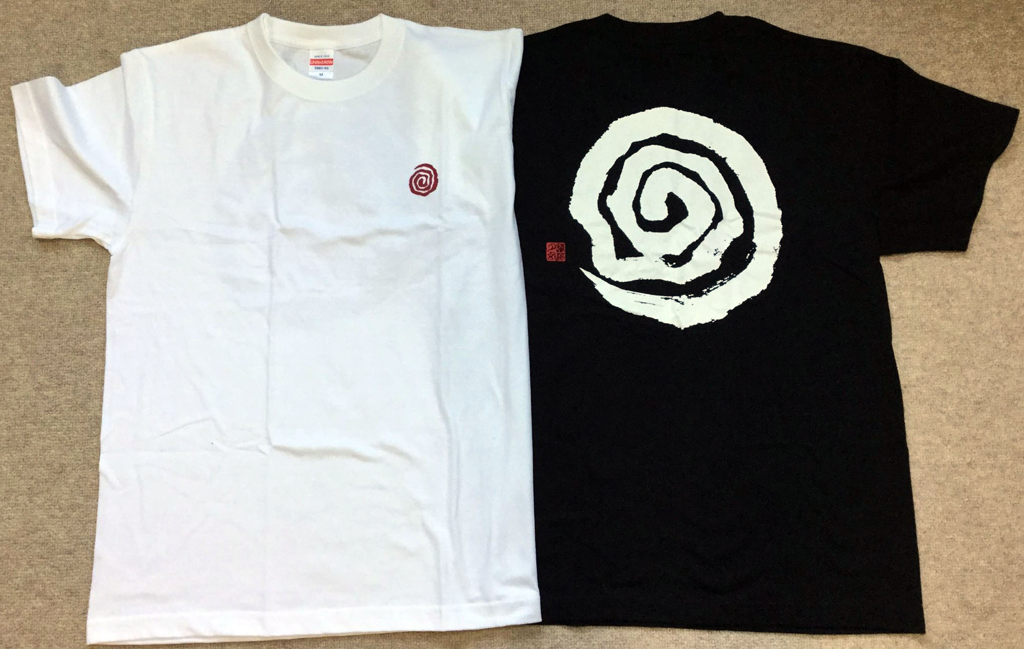 あうわTシャツ 陰陽 制作デザイン:遠藤夕幻