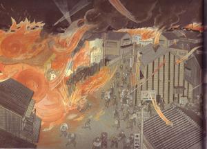東京大空襲の絵左