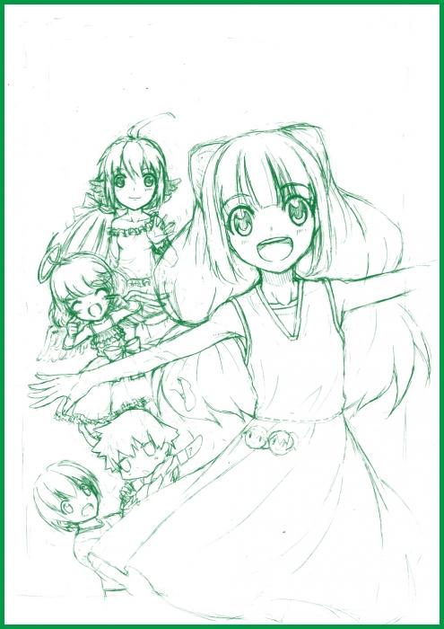 漫画表紙_ラフ画_A4_72
