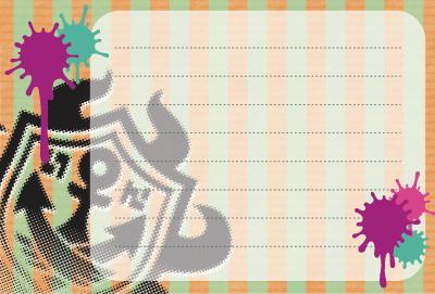 スプラトゥーン メッセージカード ガチロゴ データ 無料