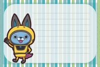 USAピョン メッセージカード 妖怪ウォッチ