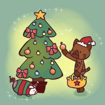 クリスマス オトモアイルー イラスト モンハン