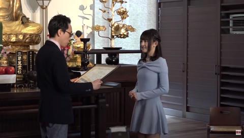 フンドシを履く美人声優 西明日香 「今日は黒地に花柄のフンドシ!」  ベストフンドシストアワード2015