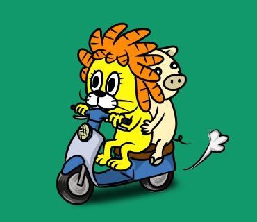 dr20151128バイクに乗る