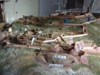 新府城の推定復元模型