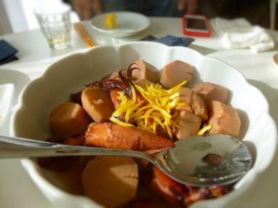 里芋とイカの煮ものが絶品