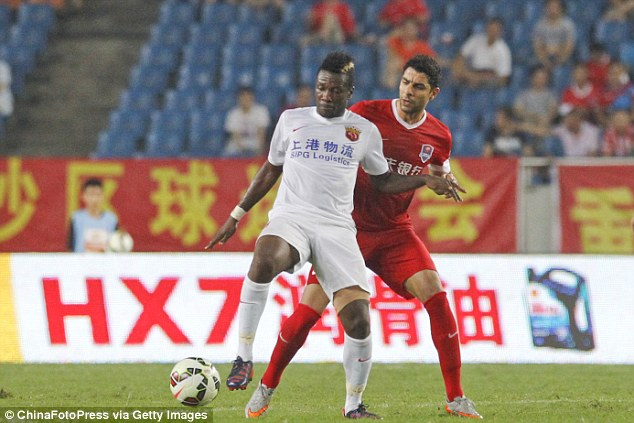 Asamoah Gyan, is the most high-profile player already at the Shanghai club