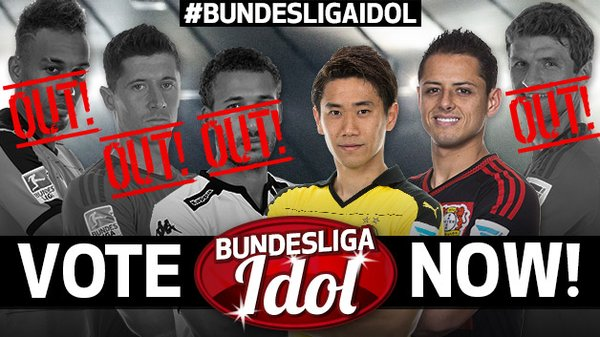 Congratulations @CH14_ and @S_Kagawa0317 The final 2 of #BundesligaIdol ! Vote starts soon!