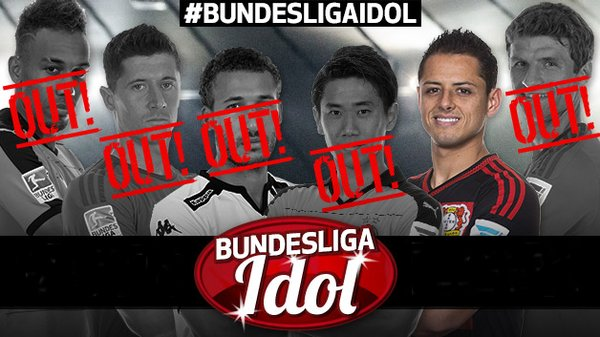 Congratulations, @CH14_! #Chicharito is your #BundesligaIdol