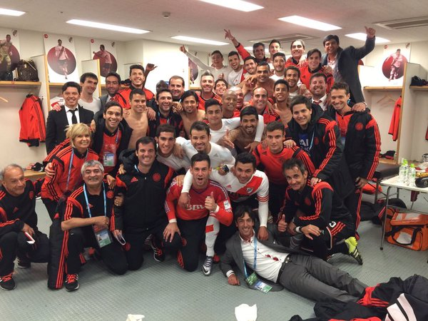 River are going to the #ClubWC final, and they look pretty happy about it