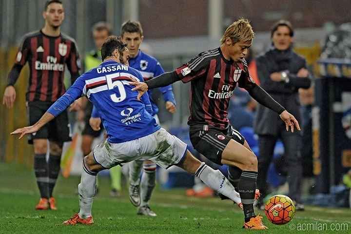 SampdoriaMilan 0-2 goal Bacca honda assists