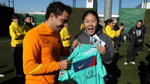 Xavi and Sawa-san