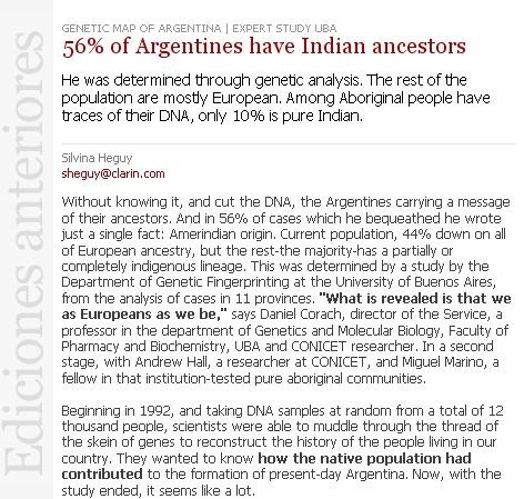 Argentine people DNA