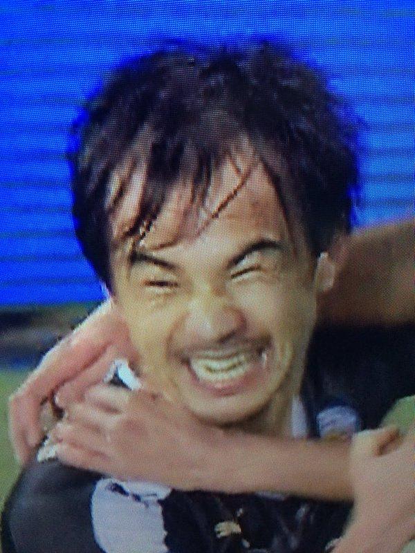 okazaki smile after scoreing