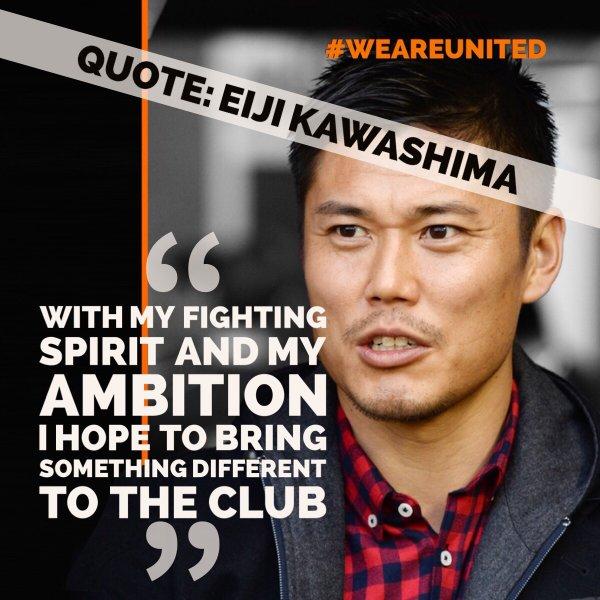 KAWASHIMA SIGNS #WEAREUNITED