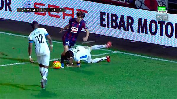 Que penalti mas absurdo ha cometido Javi Lopez Partidazo de Inui