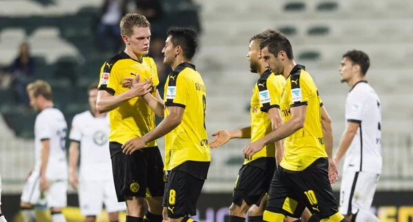 Thats it for tonights training match! Borussia Dortmund beat Eintracht Frankfurt in Dubai 4-0