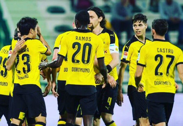 training match Dortmund beat Frankfurt in Dubai 4-0 kagawa goal