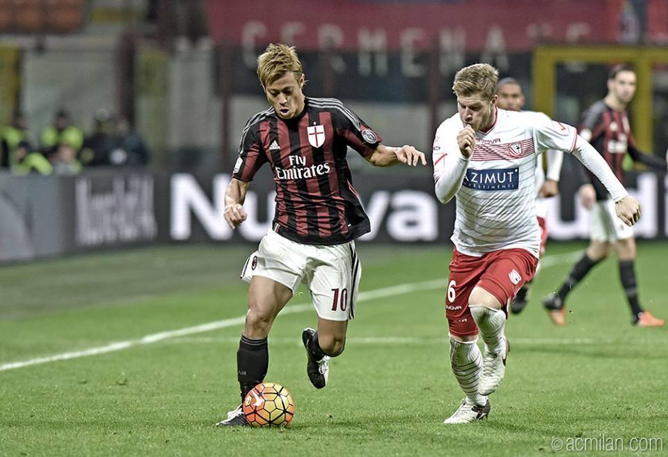 Milan-Carpi 2-1 honda assists Bacca
