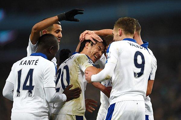 Aston Villa 0-1 Leicester Okazaki scores