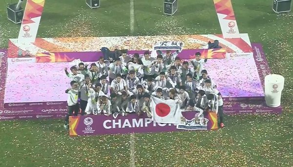 Champions of the AFCU23 Championship japan
