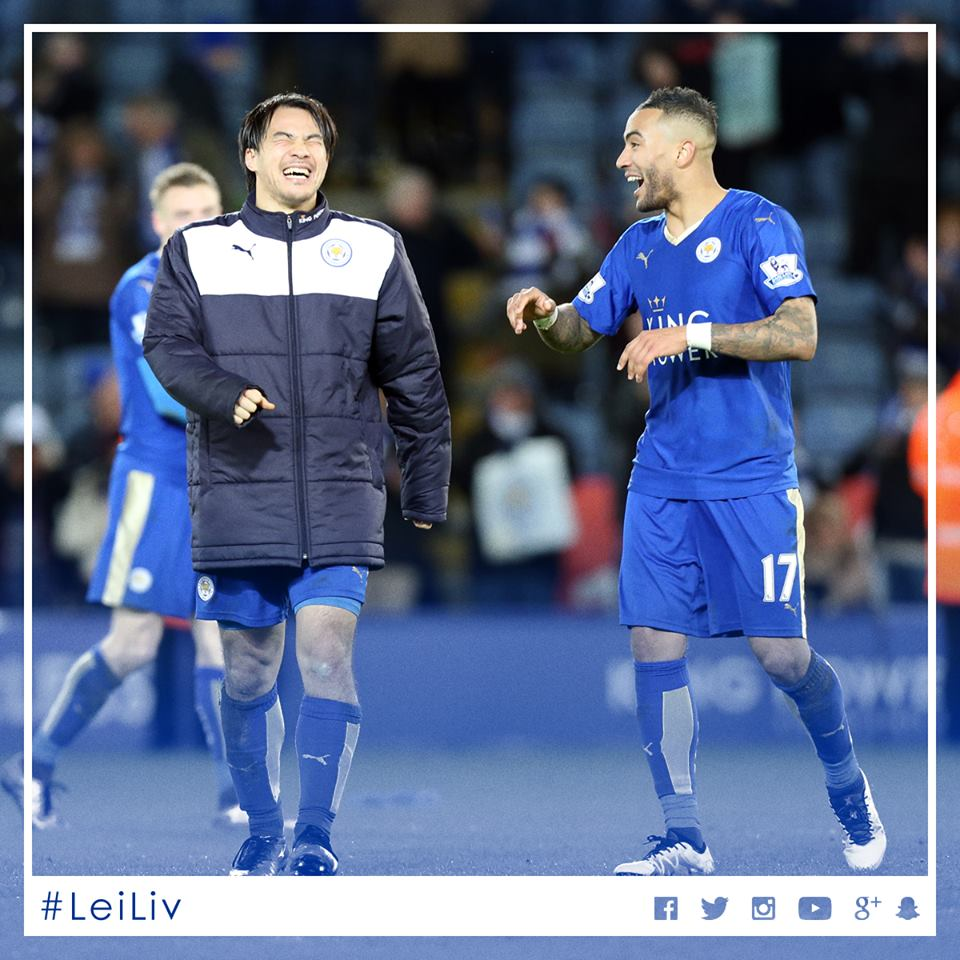 Leicester City 2-0 Liverpool #LeiLiv okazaki