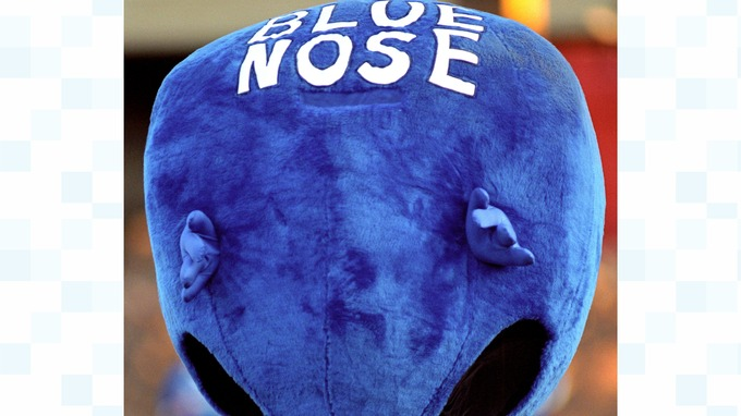 Birmingham Citys old mascot the Blue Nose