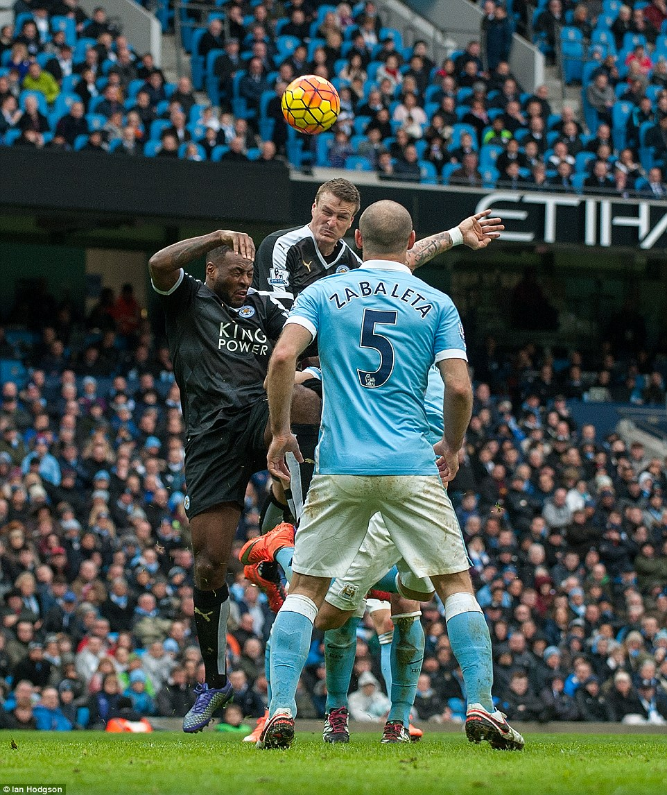 Morgan to head the visitors into an unassailable 3-0 lead at the Etihad Stadium