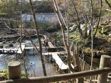 京極町の吹き出し湧水公園
