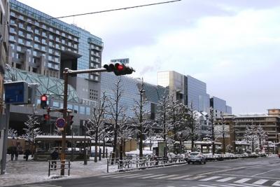 雪のJR京都駅