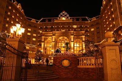 ディズニーランドホテル夜景