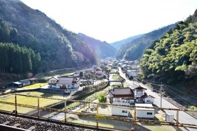 宇都井駅ホームからの眺望