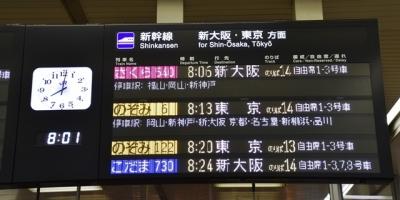 広島駅新幹線発車標