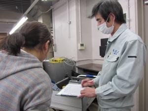 設備スタッフによる環境調査