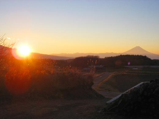 初日の出と富士山