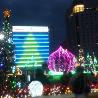 岡山 駅前イルミaabb