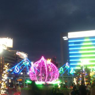岡山 駅前 イルミ