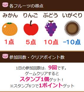 スマホ版infoQ ピトンのフルーツキャッチ ルール