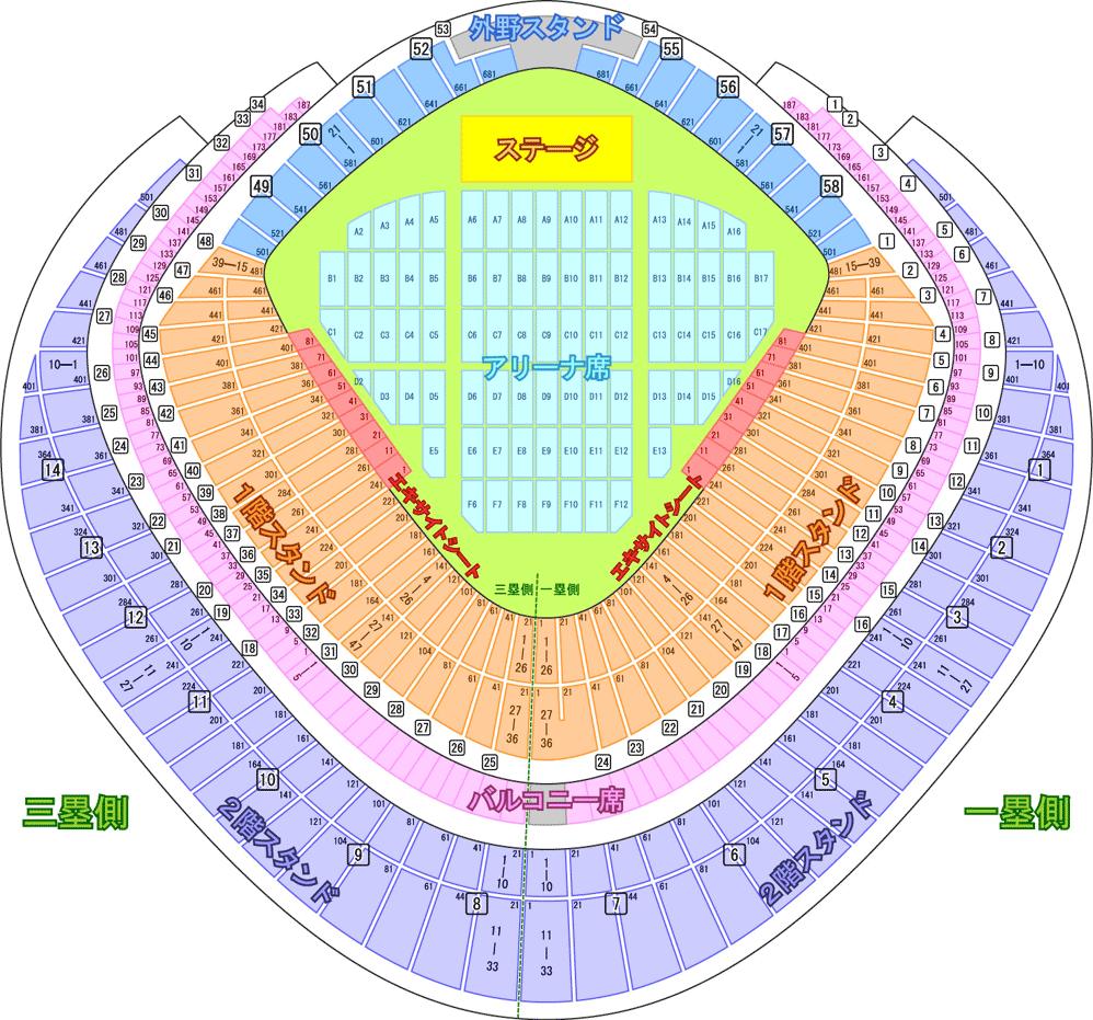 東京ドーム 座席票